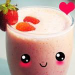 Strawberry Swirl Smoothie by Mellosaur