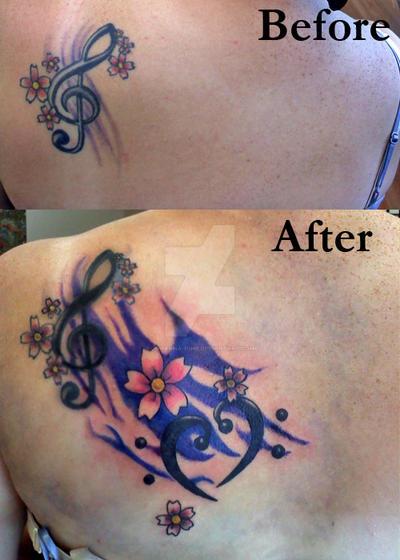 Treble and bass clef tattoo by johanna hime on deviantart for Treble bass heart tattoo