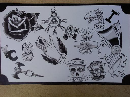 Yu gi oh tattoo flash bandw by johanna hime on deviantart Oh design