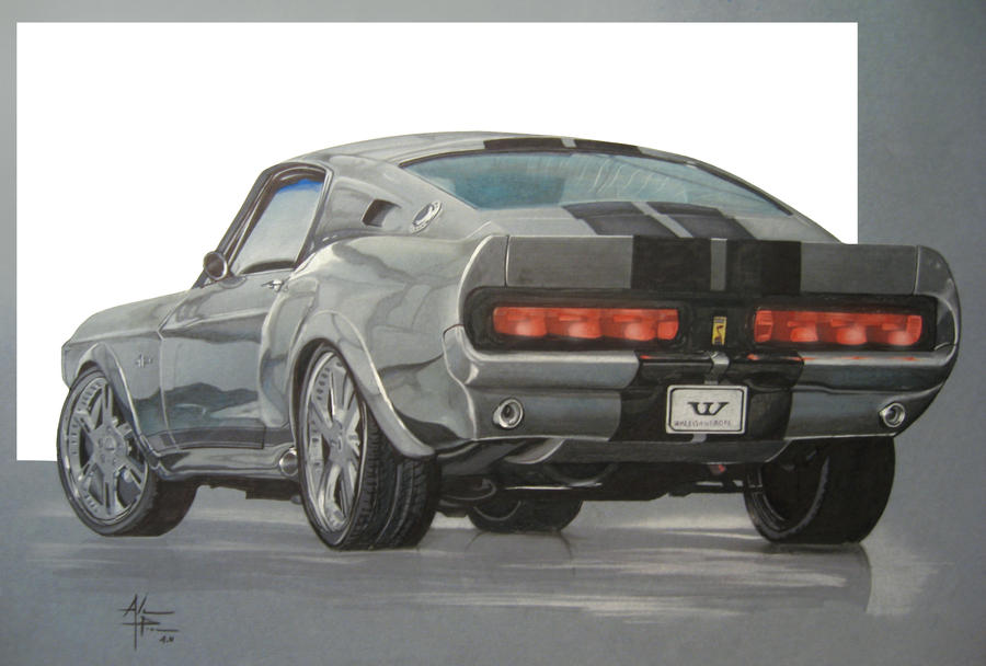 1967 Ford Mustang Drawings Ford Mustang Eleanor 1967 by