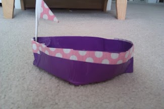 Duct Tape Toy Boat By Saffrie