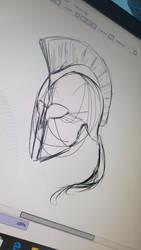 Greek Helmet Sketch
