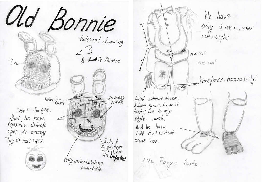 Old Bonnie Tutorial Drawing By Sophia62134 On DeviantArt