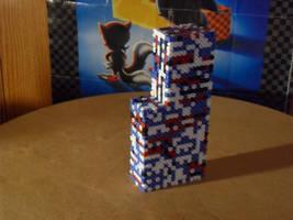 3D Missingno perler by mecharichter