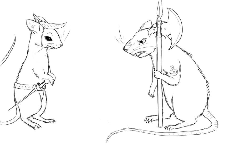 Rat study by owlburrow