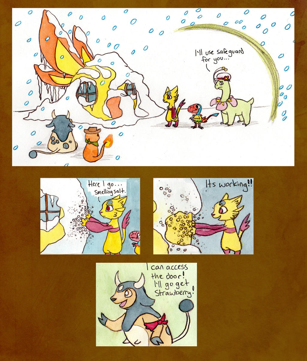 Mission 5: Page 8, Team BHTB by owlburrow