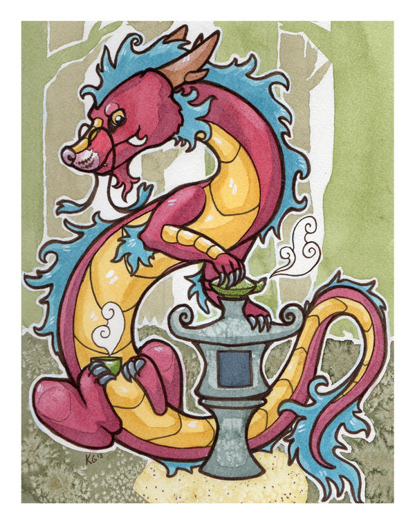 Zoltan the (wily) Tea Drinker by owlburrow