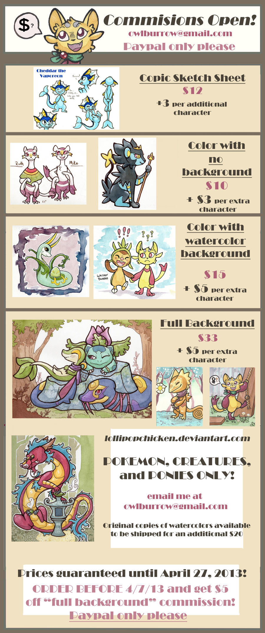 UPDATED Commission Sheet by owlburrow