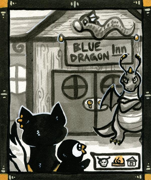 The Blue Dragon Inn by owlburrow