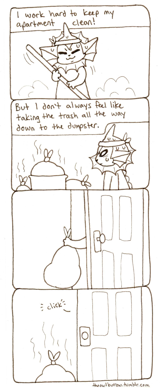 Trash by owlburrow