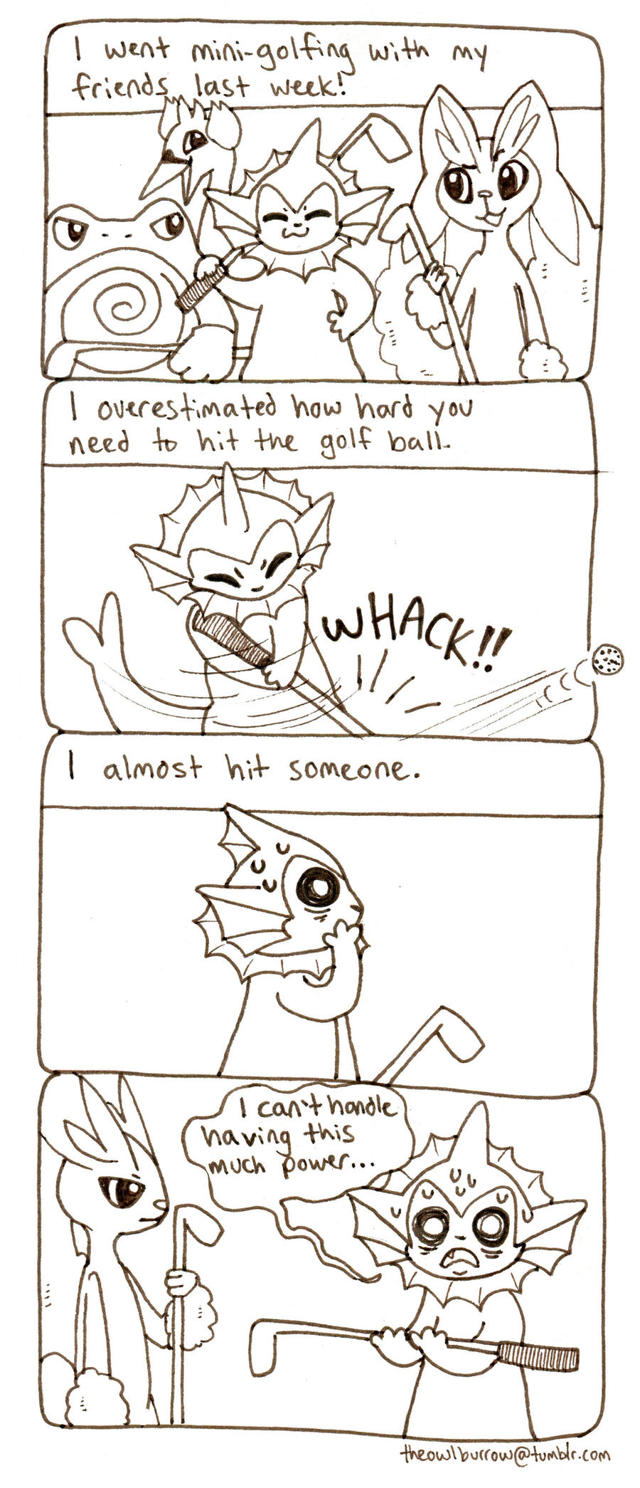 Mini Golf by owlburrow