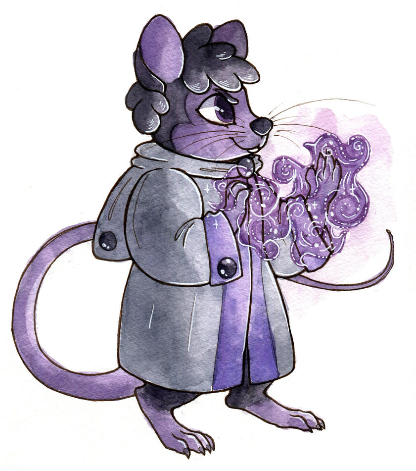 Rat Wizard by owlburrow