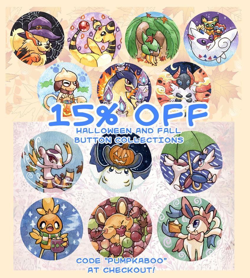 Pokemon Fall Sale by owlburrow