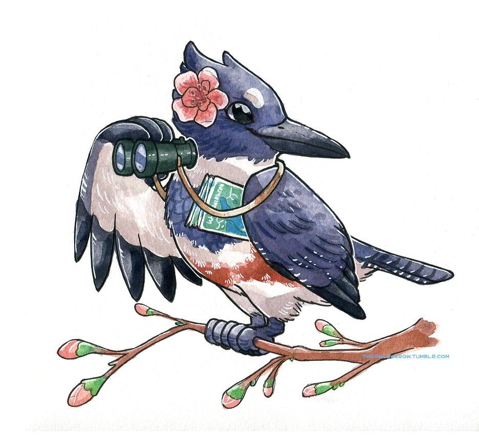 The Bird Watcher by owlburrow