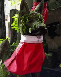 Shrine Fox Painting