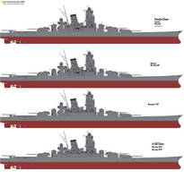 Yamato-class and A-150-Class variants by Chaos-Craft999