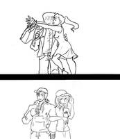 Looney in Love (Human no color Vers.) by lovelyArtisan