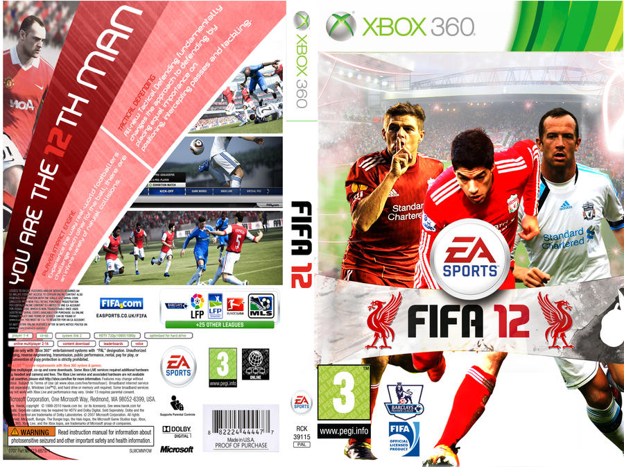 LFC FIFA 12 XBOX 360 COVER by GonzalezIsARed on DeviantArt