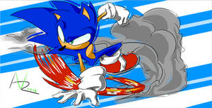 Drifting Sonic by VoltageArtz