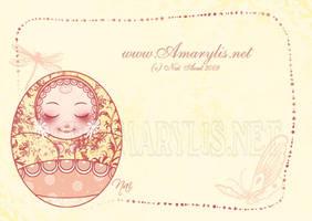 Kokeshi faire part naissance by Nailyce