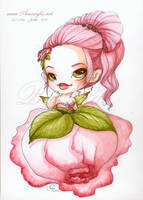Aquarelle Lou flower fairy : Rose by Nailyce