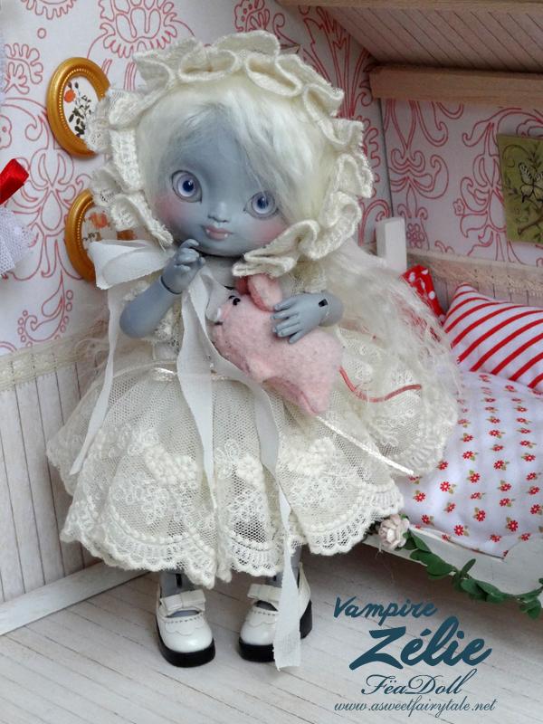 BJD Feadoll tiny zelie vampire by Nailyce