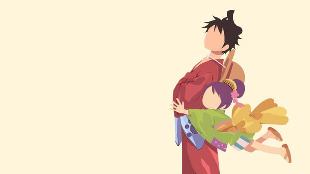 One Piece Luffy and Tama Minimal