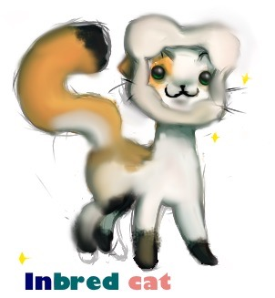 Inbred cat  by NewAndInproved