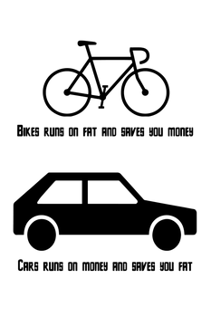 bicycle vs cars
