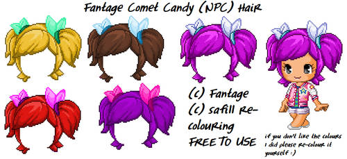 Fantage Comet Candy (NPC) Hair [FREE TO USE] by safi11