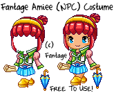 Fantage Amiee (NPC) Costume [FREE TO USE] by safi11