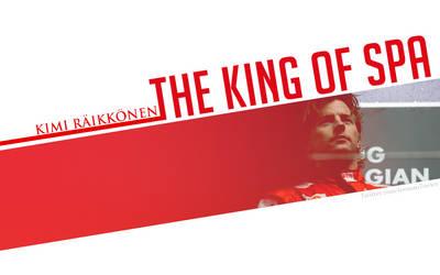 Kimi Raikkonen - The King Of Spa by KRaikkonen7