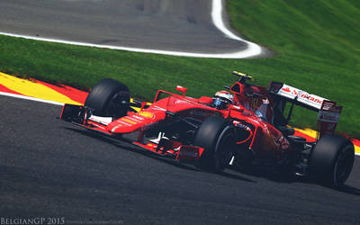 Kimi Raikkonen - BelgianGP 2015 by KRaikkonen7