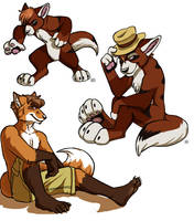commission - color poses by tigrin
