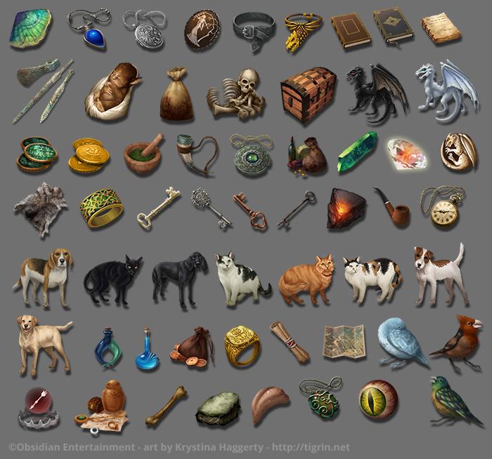 pillars of eternity item icons by tigrin on deviantart