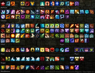 Pillars of Eternity spell icons by tigrin