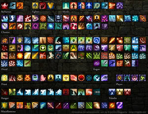 Pillars of Eternity spell icons