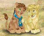 Merry and Pippin lions