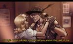 Junkrat and Mercy, Crocodile Dundee by Klar-Jezebeth
