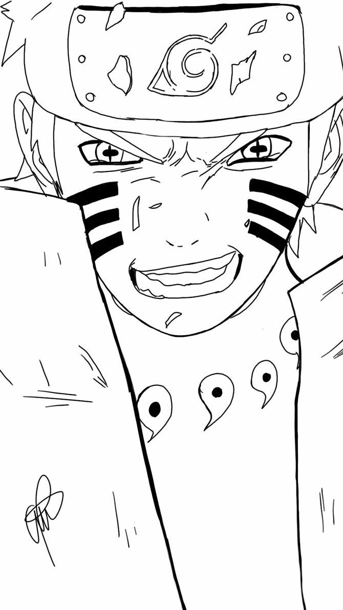 Naruto 687 lineart by antonuzumaki1 on deviantart - Naruto kyubi dessin ...