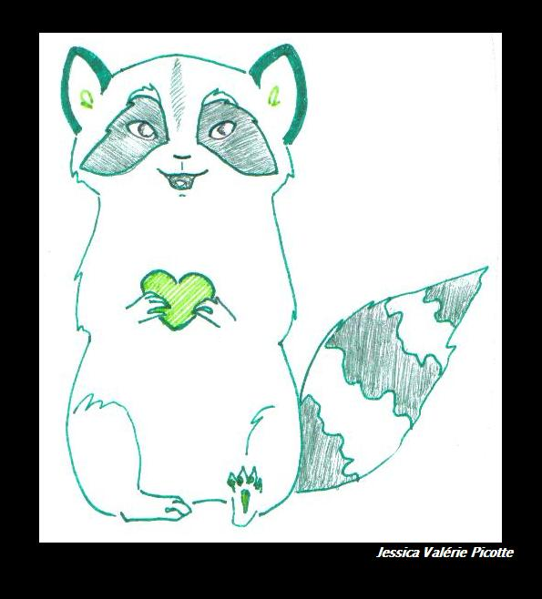 V-DAY Raccoon by Paya-Art