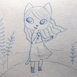 On the hill - Sketch - Close up by Paya-Art