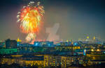 Fireworks over Moscow, Russia