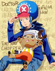 Chopper and Law Fanart
