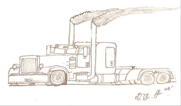 Stealth peterbilt 379 by corvettekid96 on deviantart for Peterbilt semi truck coloring pages