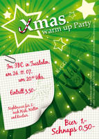 Christmas Warmup Party Flyer