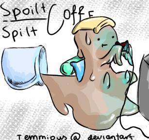 Spoilt coffee by Temmious