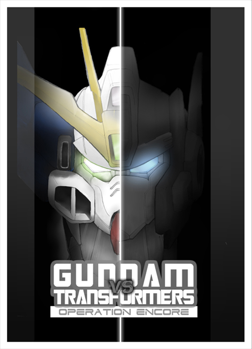 GUNDAM vs TRANSFORMERS Cover 1 by Tesla-Koi