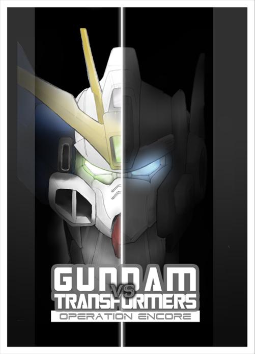 GUNDAM vs TRANSFORMERS Cover 1 by Tesla-Koi
