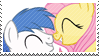 Brolly and Fluttershy love stamp by SorcerusHorserus